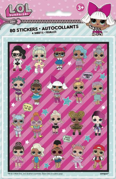 LOL Surprise Sticker Sheets (4)